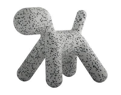 Möbel - Möbel für Kinder - Puppy Small Kinderstuhl / Small - L 42 cm - Magis Collection Me Too - Weiß / mit schwarzen Flecken - rotationsgeformtes Polyäthylen