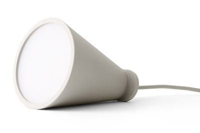 Illuminazione - Lampade da tavolo - Lampada nomade Bollard - Lampada portatile da appoggiare o sospendere - H 13 cm di Menu - Cenere - Plastica, Silicone