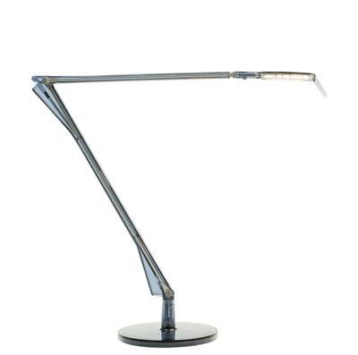 Lampe de table Aledin TEC / LED - Diffuseur plat - Kartell bleu en matière plastique