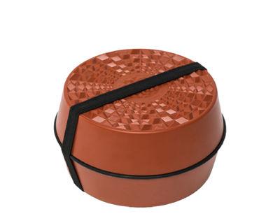 Tableware - Storage jars and boxes - Lunch box - / 3 stackable parts - ø 15 cm by Ibride - Mandarine - Food-grade melamine