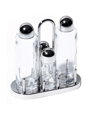 Eierbecher - Salz, Pfeffer und Gewürze - Ölständer - Alessi - Polyglänzend - Glas, Stahl