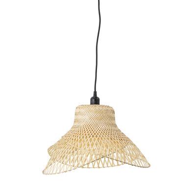 Leuchten - Pendelleuchten - Bamboo Pendelleuchte / Ø48 cm - Bambou tressé - Bloomingville - Naturel - Bambus
