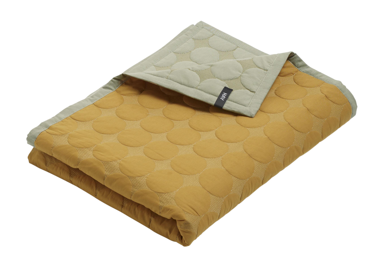 plaid mega dot hay jaune gris 245 cm x 195 cm made in design. Black Bedroom Furniture Sets. Home Design Ideas