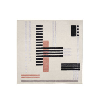 Decoration - Rugs - Around colors Rug - / 250 x 250 cm - Hand-tufted by Wiener GTV Design - 250 x 250 cm/ Grey - Viscose, Wool
