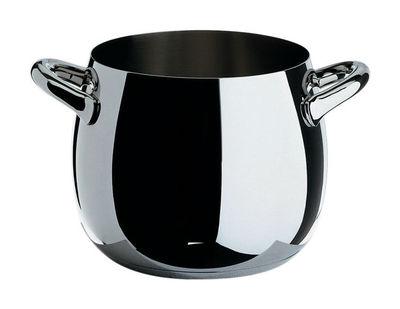 Küche - Pfannen, Koch- und Schmortöpfe - Mami Schmortopf Ø 20 cm - Alessi - Ø 20 cm - Stahl poliert - rostfreier Stahl