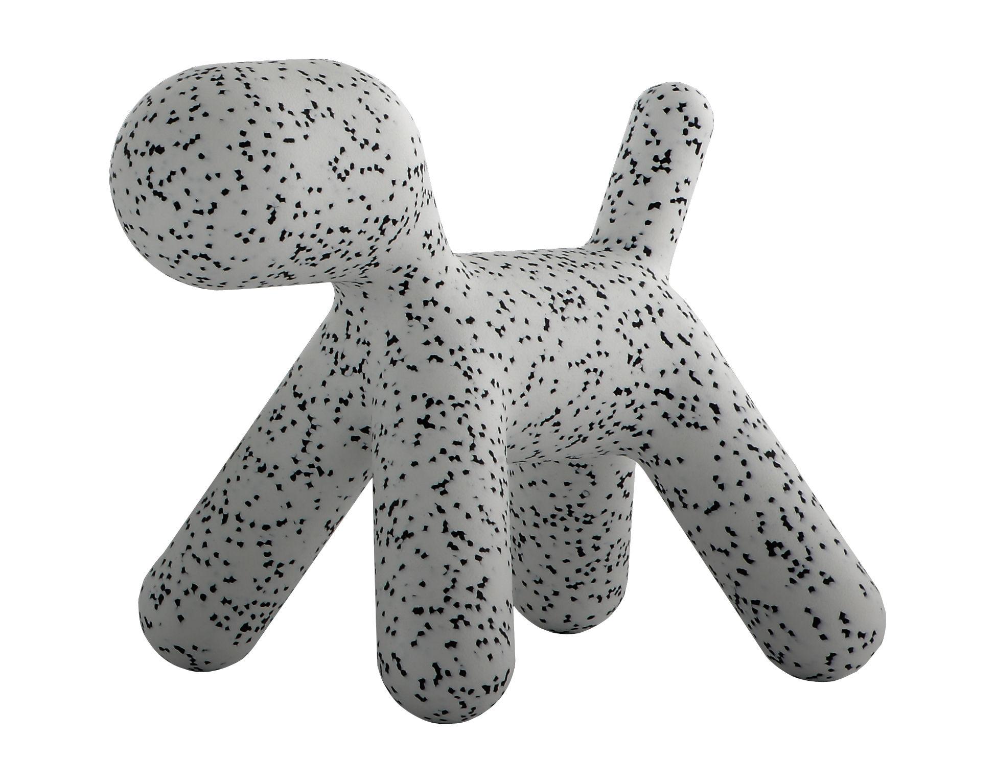Arredamento - Mobili per bambini - Sedia per bambino Puppy Small - / Small - L 42 cm di Magis Collection Me Too - Bianco/ maculato nero - Polietilene rotostampato