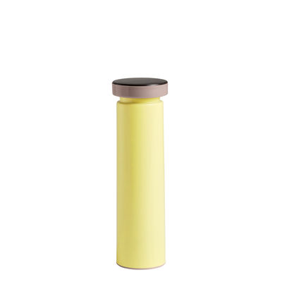 Egg Cups - Salt & Pepper Mills - Sowden Medium Spice mill - / H 20 cm - Salt & pepper - Metal by Hay - Pale yellow - Ceramic, Polypropylene, Stainless steel