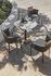 Nicolette Stackable armchair - / Aluminium & teak by Ethimo