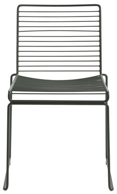 Möbel - Stühle  - Hee Stapelbarer Stuhl - Hay - Racing Grün - lackierter Stahl
