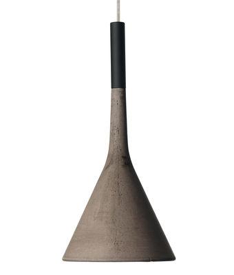 Suspension Aplomb / Ciment - Ø 17 cm x H 36 cm - Foscarini gris en pierre