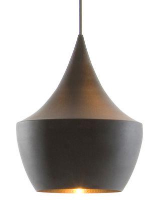 Suspension Beat Fat / Ø 24 cm x H 30 cm - Tom Dixon noir/or en métal