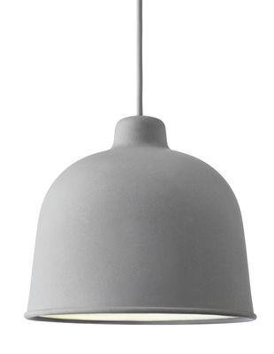 Suspension Grain / Ø 21 cm - Muuto gris en matériau composite