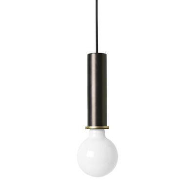 Suspension Socket High / H 17 cm - Ferm Living noir en métal