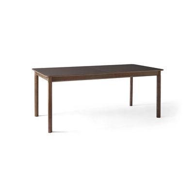 Table à rallonge Patch HW1 / Stratifié Fenix - L 180 à 280 cm - &tradition noyer,cacao en matière plastique