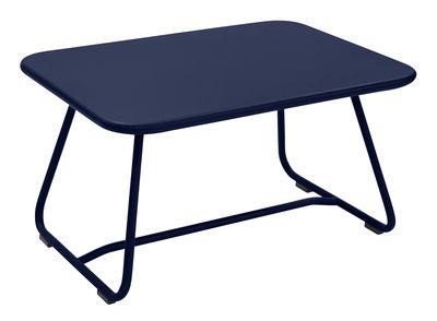 Table basse Sixties / Acier - 75 x 55 cm - Fermob bleu abysse en métal