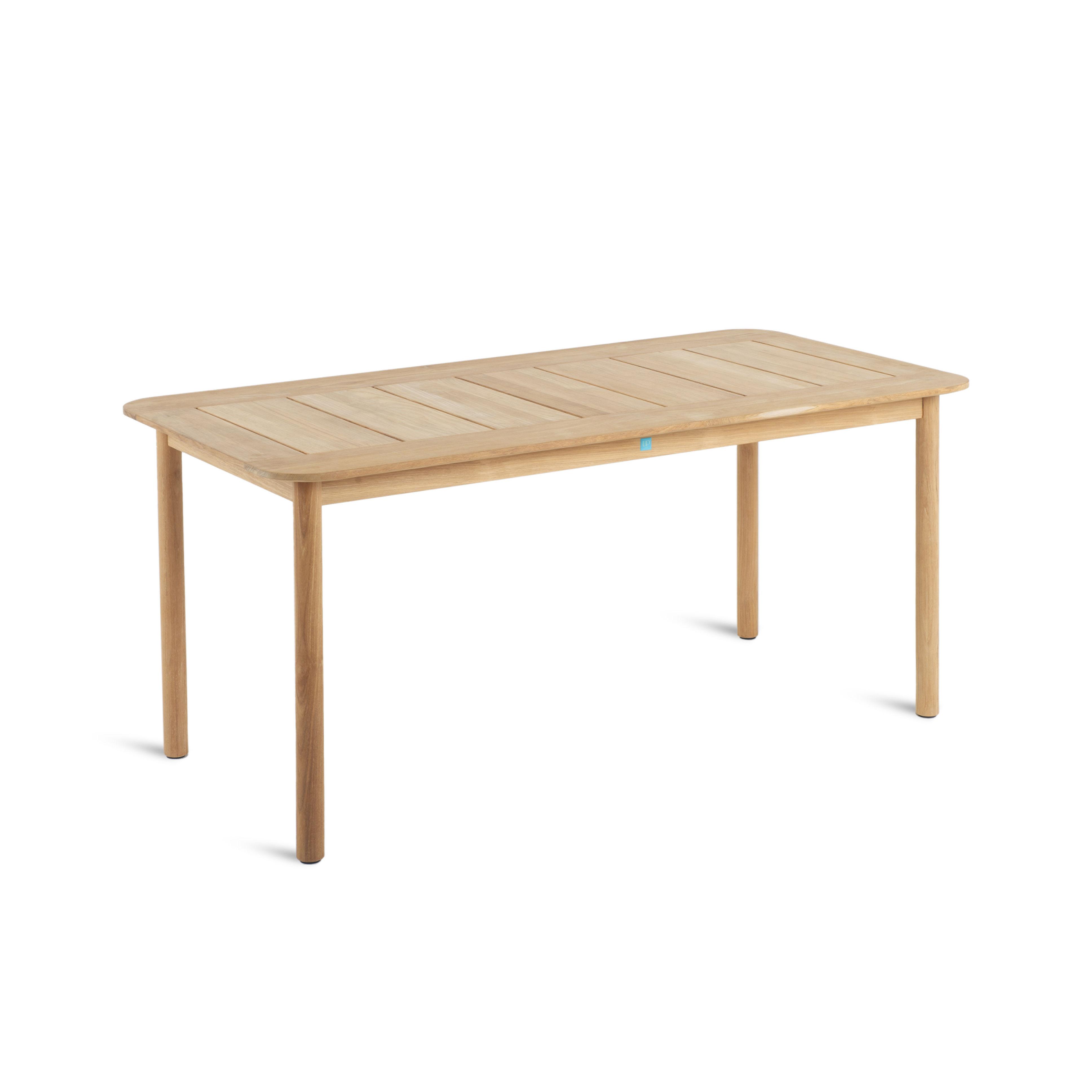 Table rectangulaire Pevero / 80 x 160 cm - 8 personnes - Teck - Unopiu bois naturel en bois