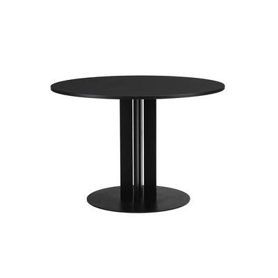 Mobilier - Tables - Table ronde Scala / Ø 110 cm - Chêne noir - Normann Copenhagen - Chêne noir - Acier verni, Contreplaqué de chêne teinté