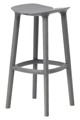 Tabouret de bar Osso / H 75 cm - Bois - Mattiazzi gris en bois