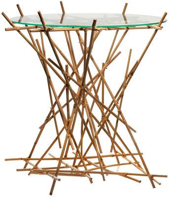Arredamento - Tavolini  - Tavolino Blow up Bamboo di Alessi - Bambù - Bambù, Vetro