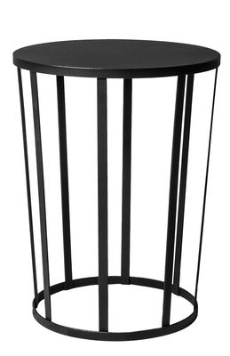 Tavolino Hollo / Ø 35 x H 44 cm - Metallo - Petite Friture - Nero - Metallo