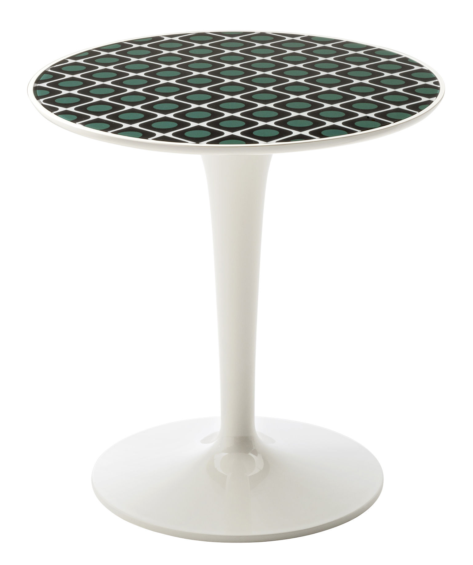 Arredamento - Tavolini  - Tavolino d'appoggio Tip Top La Double J - / Piano PMMA di Kartell - Oliva / Piede bianco - PMMA
