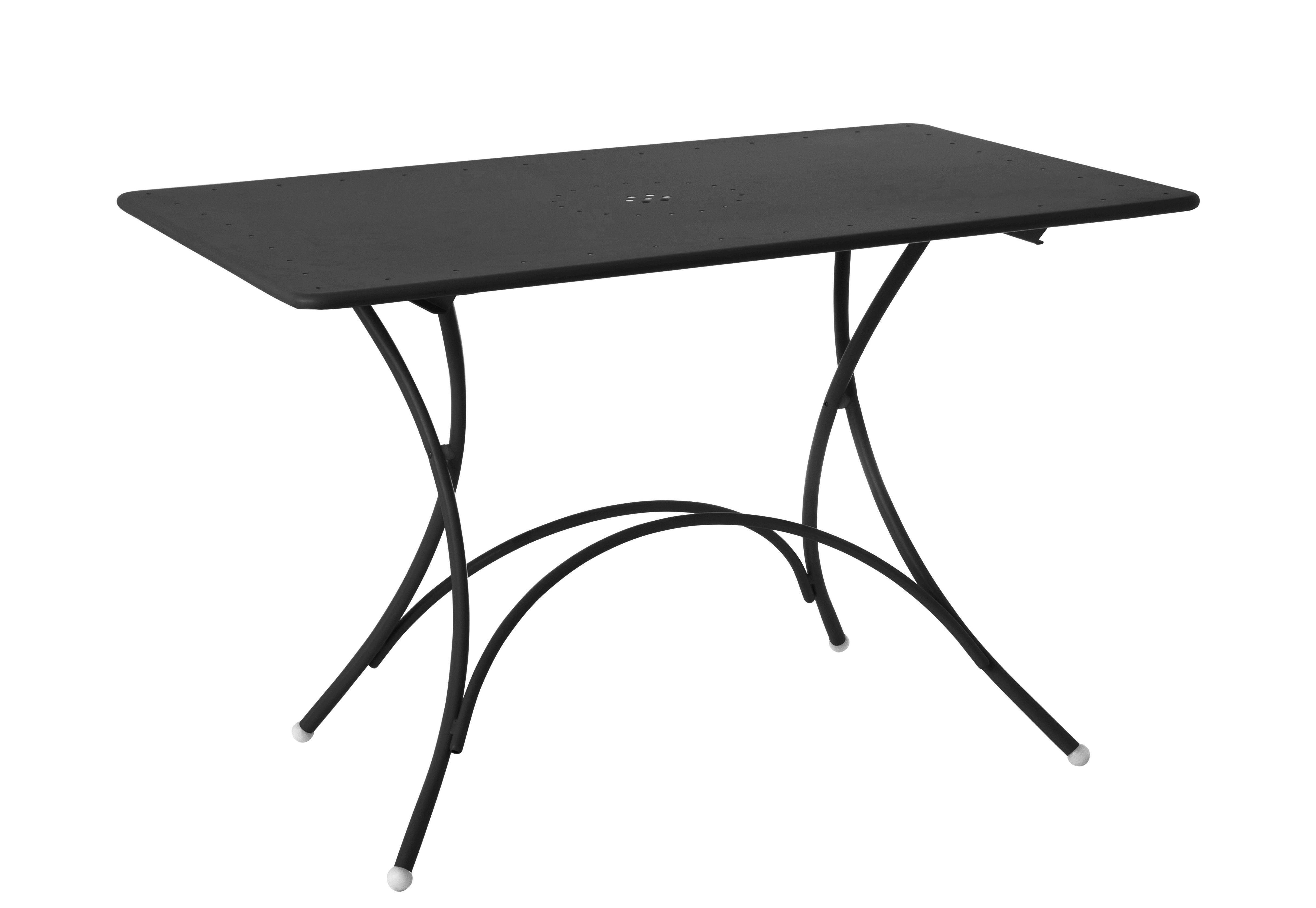 Outdoor - Tavoli  - Tavolo pieghevole Pigalle - / Metallo - 120 x 76 cm di Emu - Ferro vecchio - Acciaio verniciato