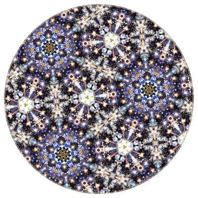 Dekoration - Teppiche - Festival Midnight Teppich / Ø 350 cm - Moooi Carpets - Blautöne / violett - Polyamid