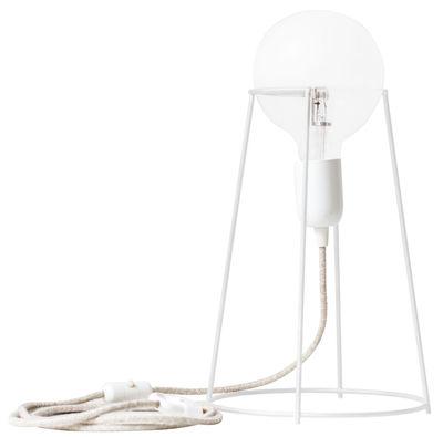 Leuchten - Tischleuchten - Agraffé Tischleuchte / H 37 cm - ENOstudio - Beton - Fer peint, Glas