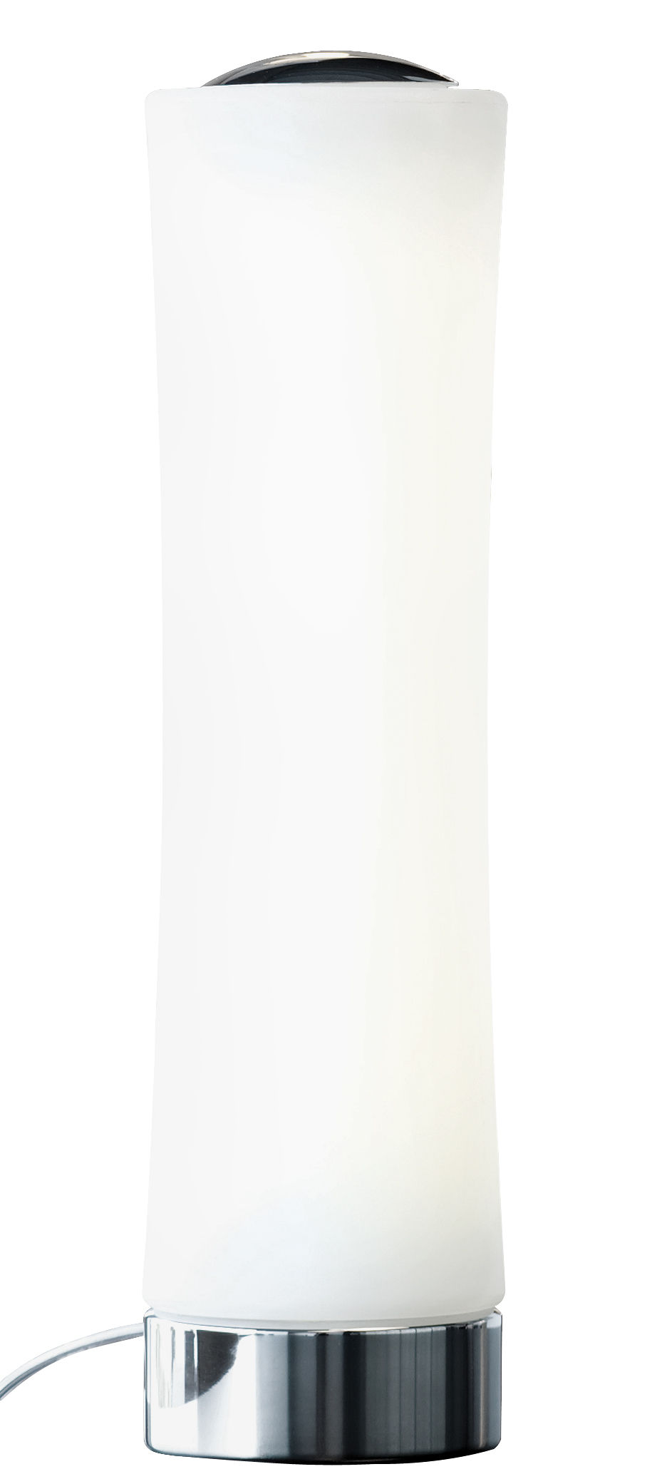 Leuchten - Tischleuchten - Také 01 Tischleuchte LED - H 48 cm - Lumen Center Italia - Weiß / Sockel chrom-glänzend - Aluminium, Polyäthylen