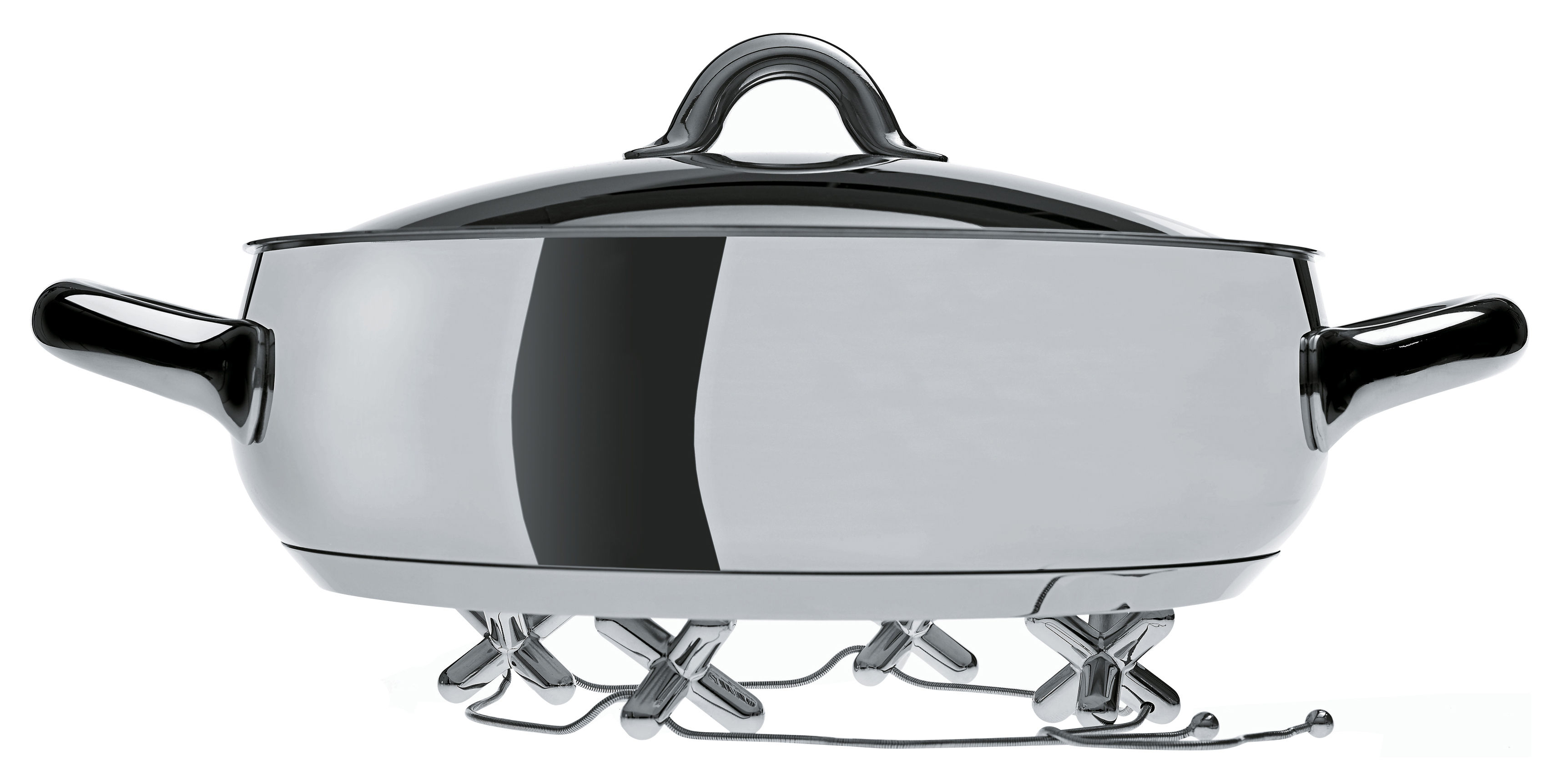 Tischkultur - Topfuntersetzer - Tripod Topfuntersetzer - Alessi - Verchromt - verchromtes Zamac