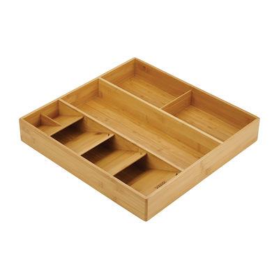 Kitchenware - Kitchen Sink Accessories - DrawerStore Bamboo Utensil tidy - / For cutlery & utensils - 38,6 x 39,8 cm by Joseph Joseph - Bamboo - Bamboo