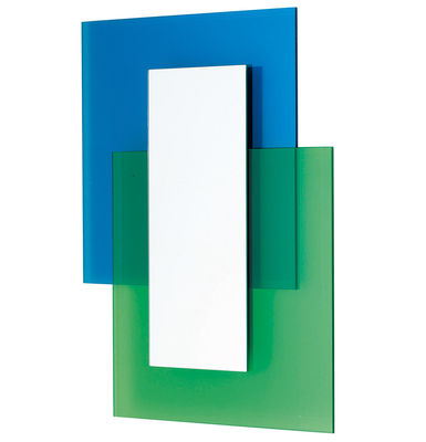 Furniture - Mirrors - Colour on Colour Wall mirror by Glas Italia - Blue & green - Cristal, Mirror