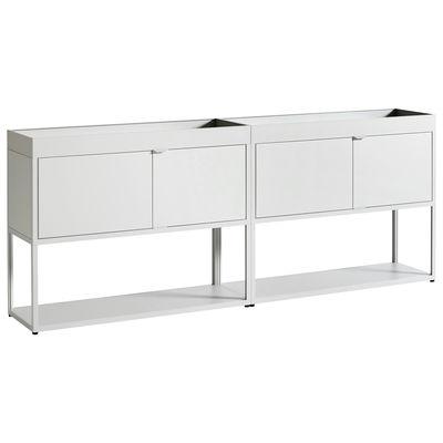 Mobilier - Commodes, buffets & armoires - Buffet New Order / Métal - L 200 x H 79,7 cm - Hay - Gris clair - Aluminium peinture poudre