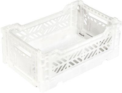 Accessoires - Accessoires bureau - Casier de rangement Mini Box / pliable L 26,5 cm - Surplus Systems - Pop Corn - Blanc - Polypropylène