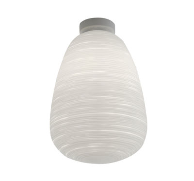 Lighting - Wall Lights - Rituals 1 Ceiling light - Ø 24 x H 37 cm by Foscarini - White - Lacquered metal, Mouth blown glass