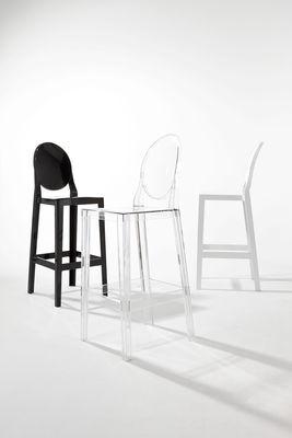 Chaise de bar One more H 65cm Plastique Kartell