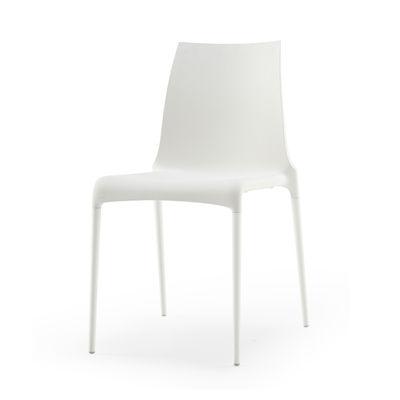 Chaise empilable Petra / Polyuréthane - Cinna blanc en matière plastique