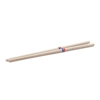 Tableware - Cutlery - La Baguette Française Chopsticks - / Reusable - Biodegradable plant material by Cookut - Beige - Corn, Wheat starch