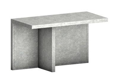 Mobilier - Etagères & bibliothèques - Console Atrium Meteorite / Bureau -  Simili-ciment - L 170 x H 72 cm - Zeus - Ciment gris - Acier revêtu de simili-ciment