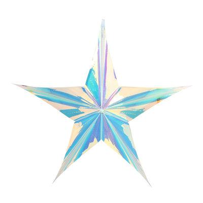 Décoration Cosmic Star / 60 x 60 cm - & klevering iridescent en matière plastique