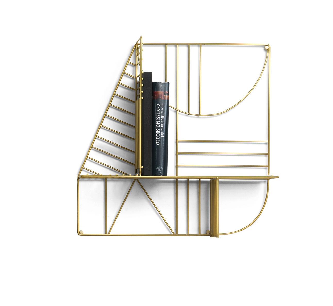 Mobilier - Etagères & bibliothèques - Etagère Musa / 60 x 60 cm - Mogg - Or - Métal laqué