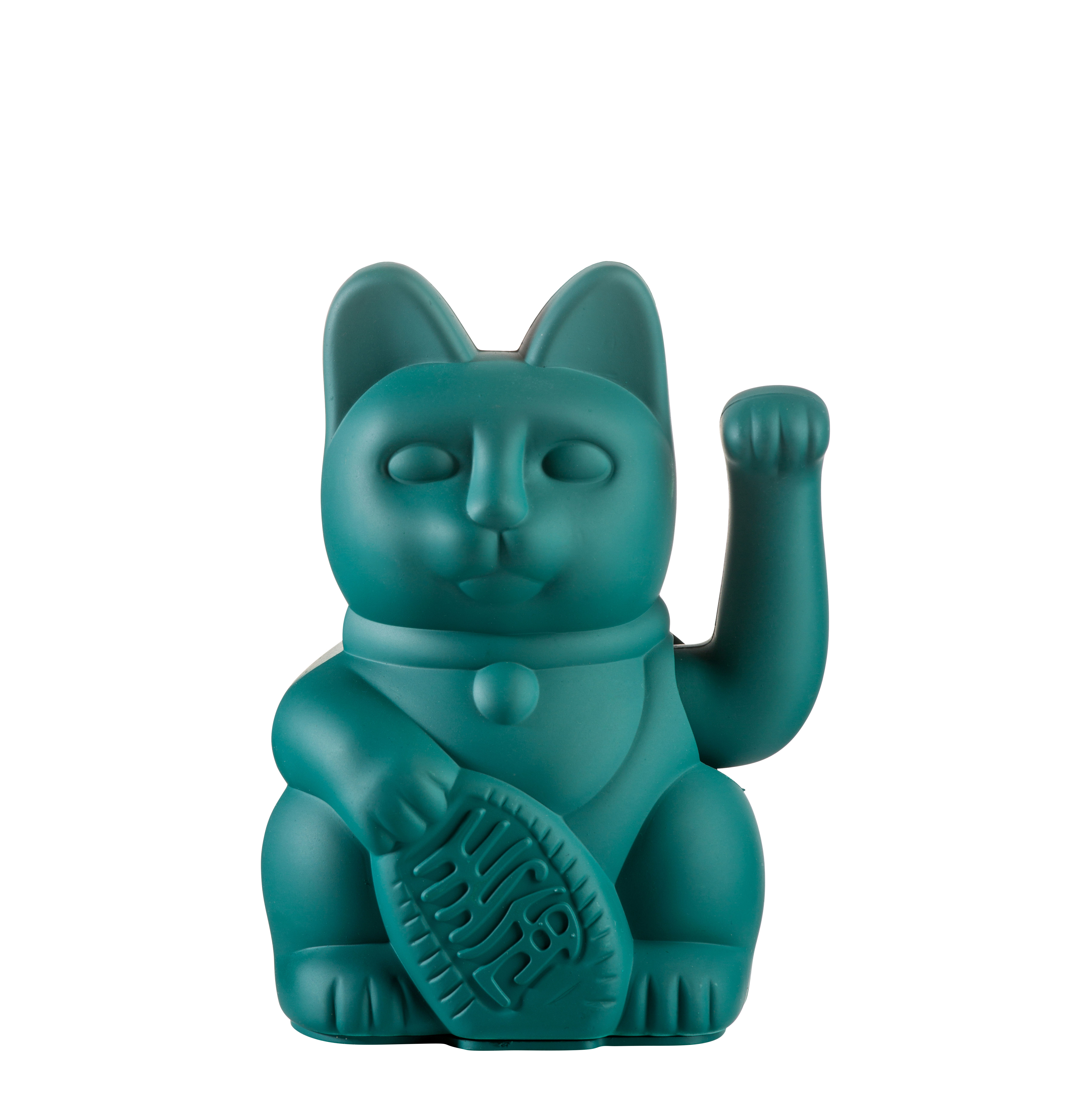 Interni - Per bambini - Figurina Lucky Cat - / Plastica di Donkey - Verde - Plastica