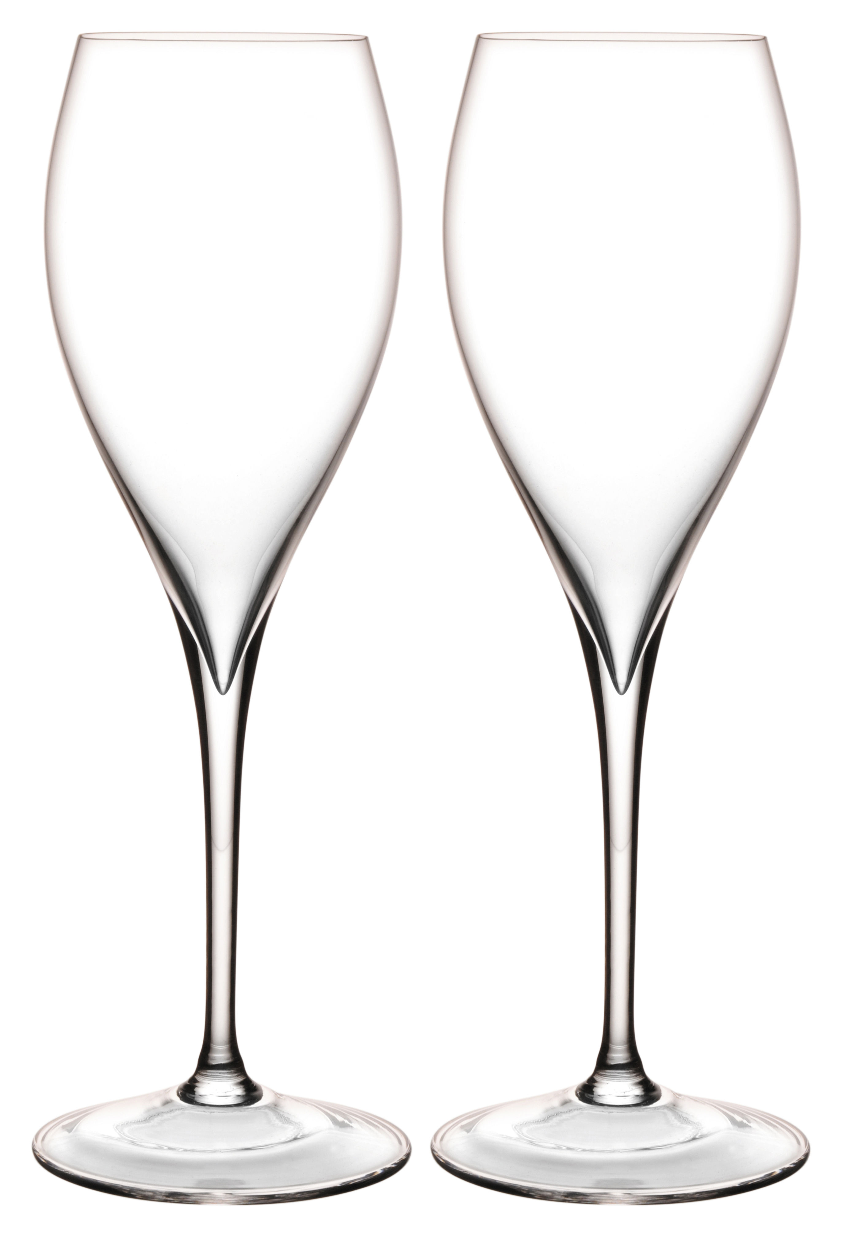 Tavola - Bicchieri  - Flûte da champagne Grand Piqué - set da 2 di L'Atelier du Vin - Trasparente - vetro soffiato