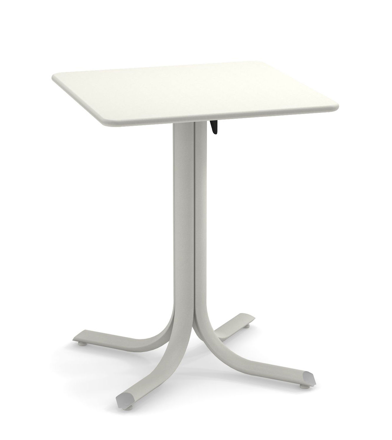 Outdoor - Garden Tables - System Foldable table - / 60 x 60 cm by Emu - White - Galvanised painted steel
