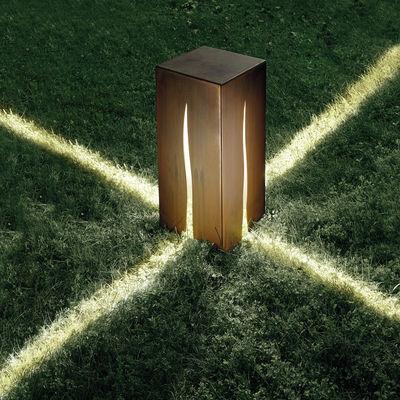 Granito lampada da pavimento h 60 cm per esterni h 60 cm color legno by artemide made in - Illuminazione a pavimento per esterni ...