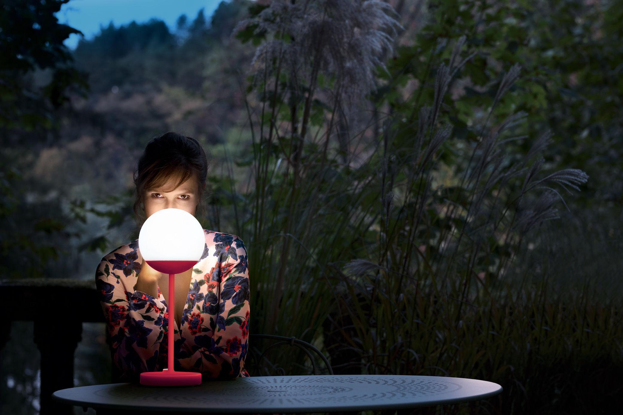 Lampe Ohne Kabel Mooon! LED Von Fermob - Rot/Orange