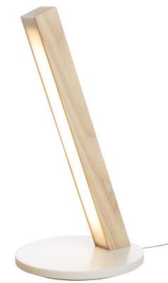 Luminaire - Lampes de table - Lampe sans fil LED40 / Station de recharge pour smartphone - Tunto - Chêne - Chêne