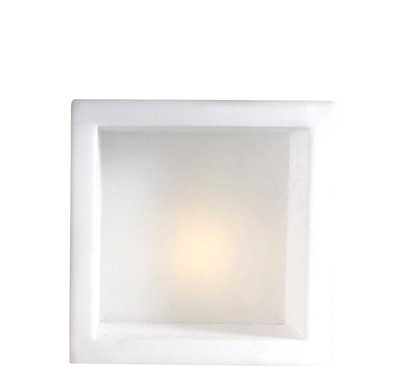 Furniture - Bookcases & Bookshelves - Open Cube Luminous shelf - Luminous by Slide - White - Polythene