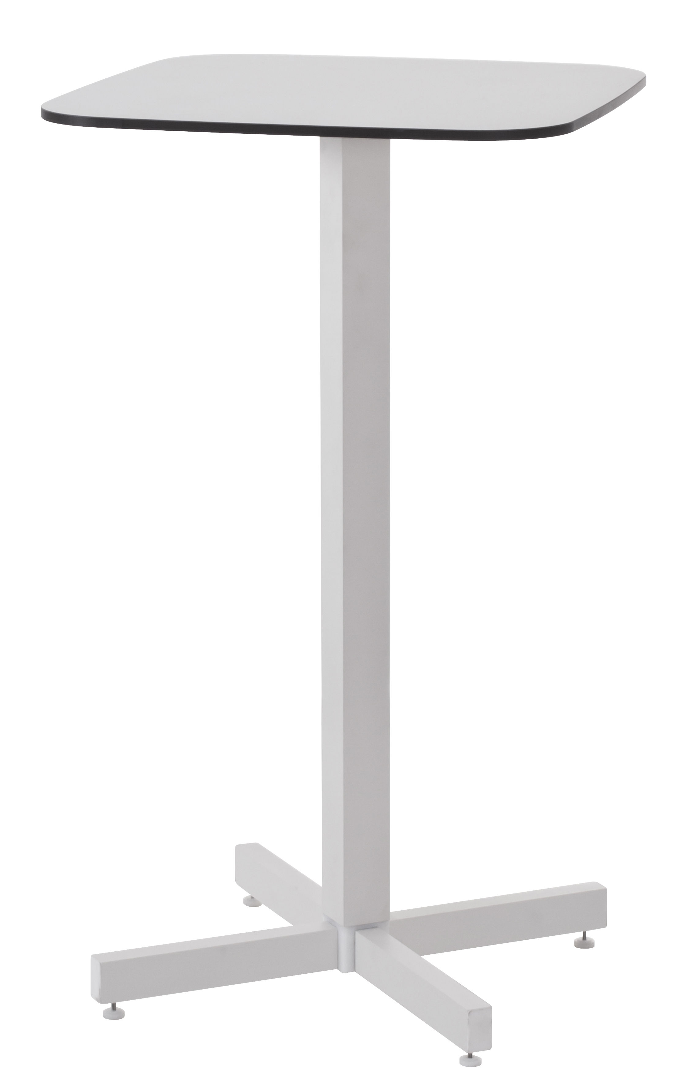 Mobilier - Mange-debout et bars - Mange-debout Shine / H 105 cm - Emu - Blanc - Aluminium verni, HPL