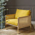 Cannage Padded armchair - / Fabric - Oak structure by RED Edition